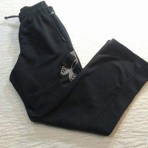 Boys Black Under Armor Storm 1Pants Size YM GUC